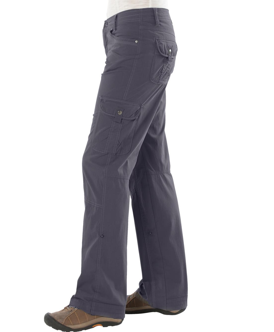Innovative Multifunctional Pants Are A Necessity As You Are Hiking And Backpacking The Kuhl Womens Splash Roll Up Pant Are Just That These Lightweight Pants Are Extremely Comfortable With A Cottony Feel And Just Enough Spandex To Allow You To