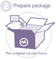 return shipping - prepare package