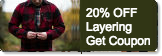 Layering tops and sweaters 20% off