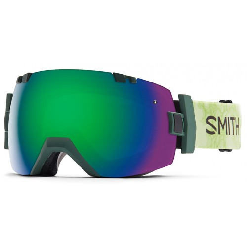 Smith I/O X Goggles with Green Sol-X Mirror and Red Sensor Mirror Lenses (W15-16)