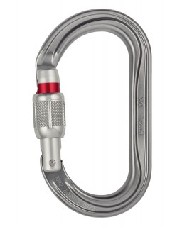 Petzl OK Screw-Lock Oval Carabiner. Grey