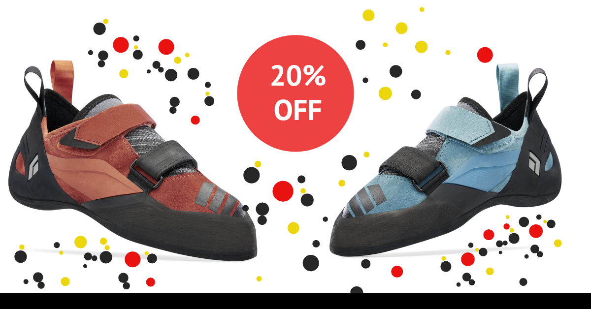 20% off Black Diamond Shoes