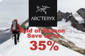Arc'teryx Spring 17 up to 35% Off