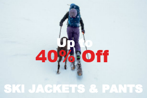 Ski jackets & pants up to 40% off