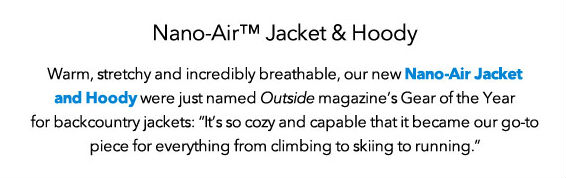 Nano-Air Hoody and Jacket